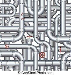 Un patrón de oleoducto abstracto sin daños. Antecedentes de vector