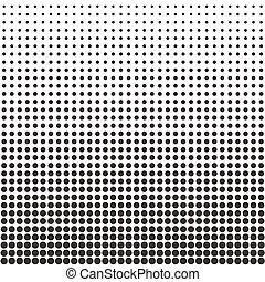 Un patrón de puntos medio