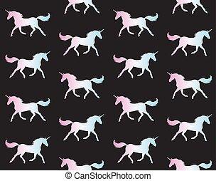 Un patrón de unicornio holográfico
