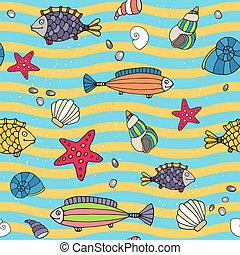 Un patrón de vida marina en la costa