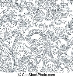 Un patrón floral sin vector