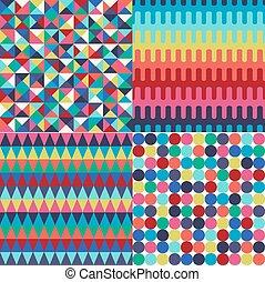 Un patrón geométrico sin daños