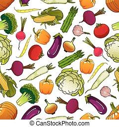 Un patrón saludable de vegetales sin costura