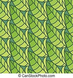 Un patrón sin forma de hojas. Fondo de ilustración de vectores
