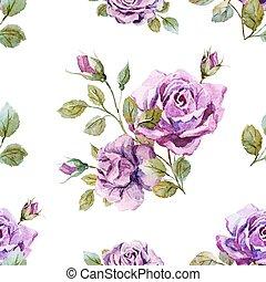 Un patrón suave de rosas
