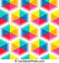 Un patrón vívido sin forma con hexágonos mosaicos