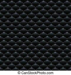 Un patrón vector sin costura. Cubierta de sofá de cuero negro.