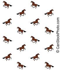 Un patrón vector sin costura de caballo marrón de la bahía