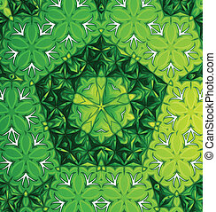 Un patrón verde