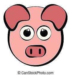 Un pedazo de cabeza de cerdo