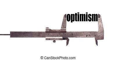 Un pequeño concepto de optimismo