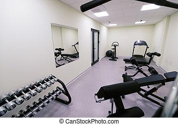 Un pequeño gimnasio asequible