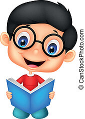 Un pequeño libro de lectura de dibujos animados