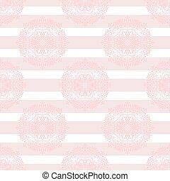 Un pequeño mandala rosa sutil y sin rayas.