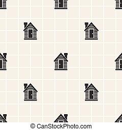Un pequeño moncromo sin forma de casa
