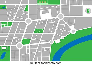 Un pequeño vector de mapa abstracto de ciudad