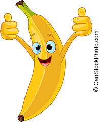 Un personaje animado de banana