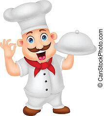 Un personaje de caricatura Chef