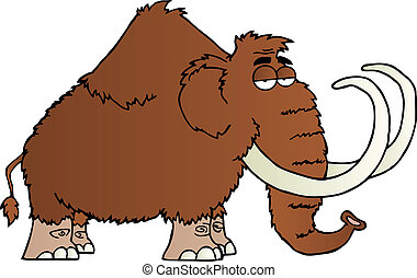 Un personaje de caricatura Mammoth