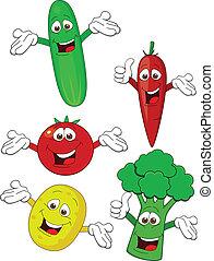Un personaje de caricatura vegetal