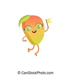 Un personaje de dibujos de chicas mango