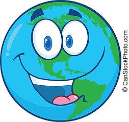 Un personaje de dibujos de la Tierra