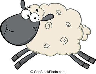 Un personaje de dibujos de ovejas negras