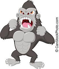 Un personaje de gorila enojado