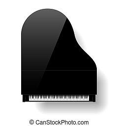 Un piano negro de primera vista