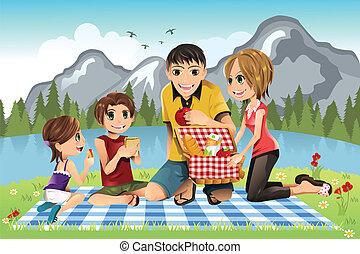 Un picnic familiar