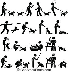 Un pictograma de entrenamiento para perros