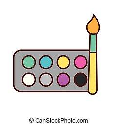 Un pincel de color paleta de colores de diseño gráfico