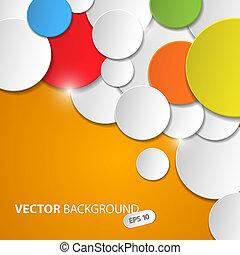 Un plano abstracto con círculos coloridos