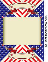 Un plano de la bandera americana