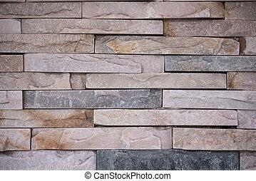 Un plano de la pared de piedra