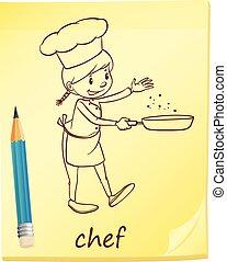 Un post-it con un chef