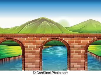Un puente a través de las montañas