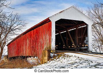 Un puente cubierto de Vintage