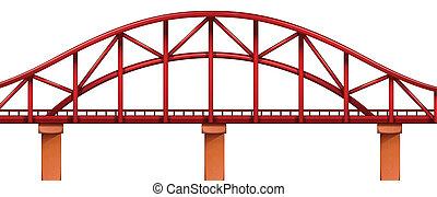 Un puente rojo