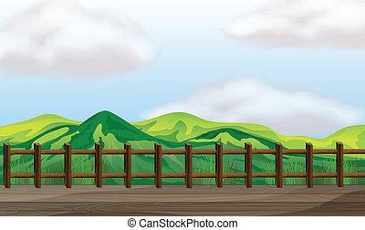 Un puente sobre la montaña