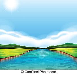 Un río que fluye