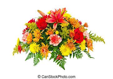 Un ramo de flores colorido