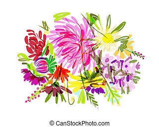 Un ramo de flores para tu diseño