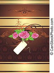 Un ramo de rosas con adornos