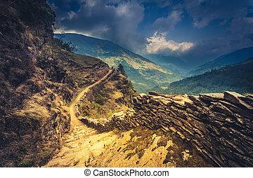 Un rastro de montaña