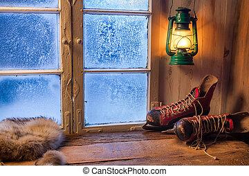 Un refugio cálido en el invierno helado