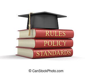 Un registro de cumplimiento y reglas. Imágenes con ruta de recorte