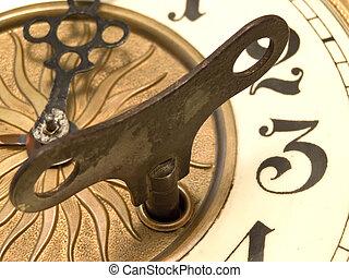 Un reloj cerrado