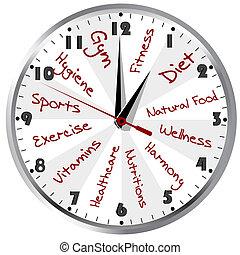 Un reloj conceptivo para una vida sana