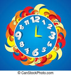 Un reloj de color abstracto